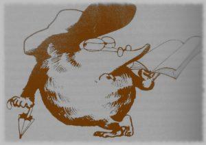 Der Maulwurf als Wappentier derRevolution im Dienst des Vereins linker Buchhändler (Quelle: Archiv Uwe Sonnenberg)