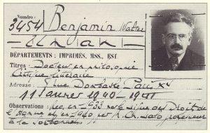 Walter Benjamins Ausweis für die Bibliothèque nationale de France