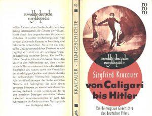 Siegfried Kracauer - Von Caligari bis Hitler (Rowohlt, 1958)