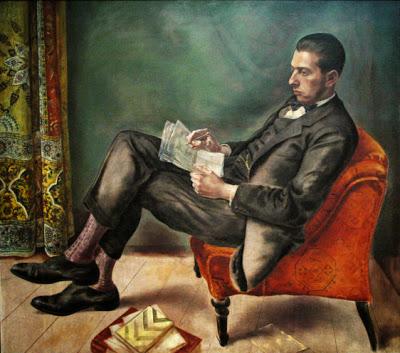 George Grosz, Porträt von Dr. Felix J. Weil (1926) - Öl auf Leinwand (Los Angeles County Museum of Art)