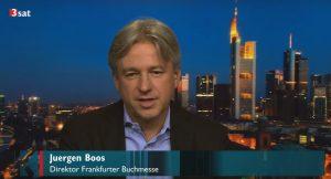 Juergen Boos im Interview mit dem Kultursender 3Sat