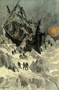 Jules Verne: Die Eissphinx (Illustration von George Roux, 1895)