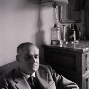 Alberto Moravia (Porträt von Paolo Monti, 1982)