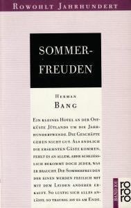 Herman Bang: Sommerfreuden (Rowohlt, 1993)