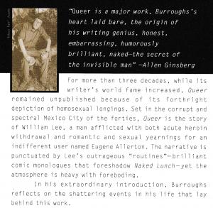 Backcover der Penguin-Ausgabe von <em>Queer</em> (dt. <em>Homo</em>