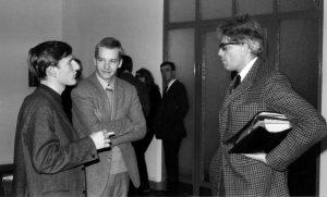 Gert Mattenklott, Wolfgang Fietkau und Peter Szondi im Jahr 1967 (© Heinz Blumensath)
