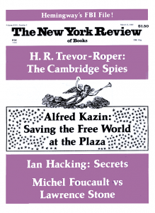 Cover New York Review of Books (März 1983)