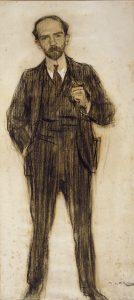 Ramon Casas: Porträt von Pío Baroja (ca. 1904)